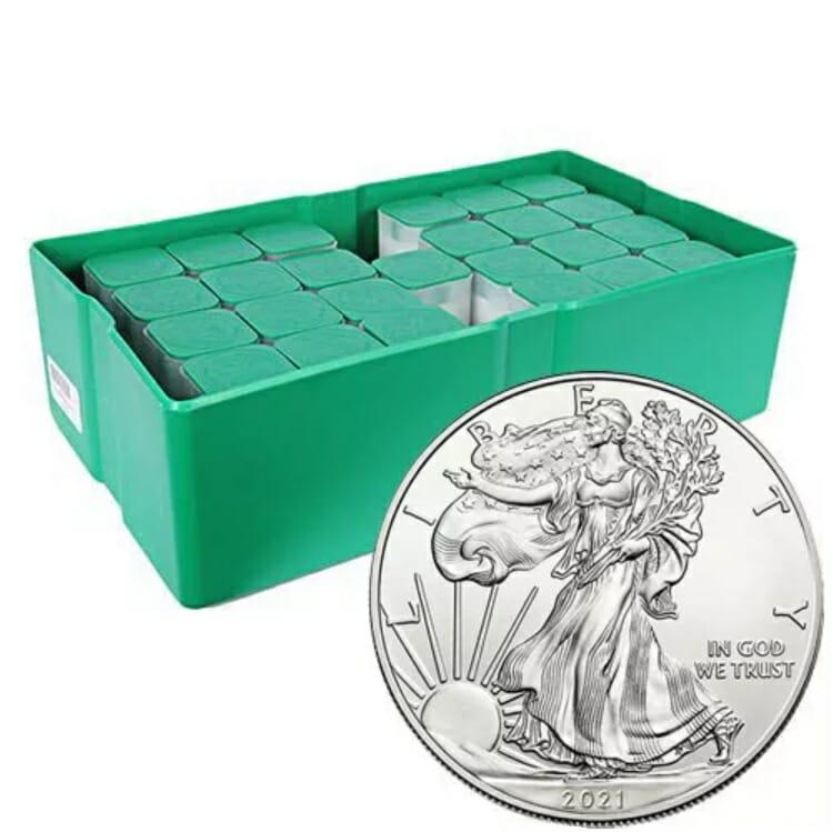 2021 American Silver Eagle 1oz .999 Silver Bullion Coin ASE (Type 1) 4