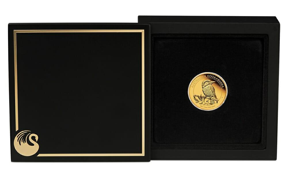 2021 Australian Kookaburra 1/4oz .9999 Gold Proof Coin 4