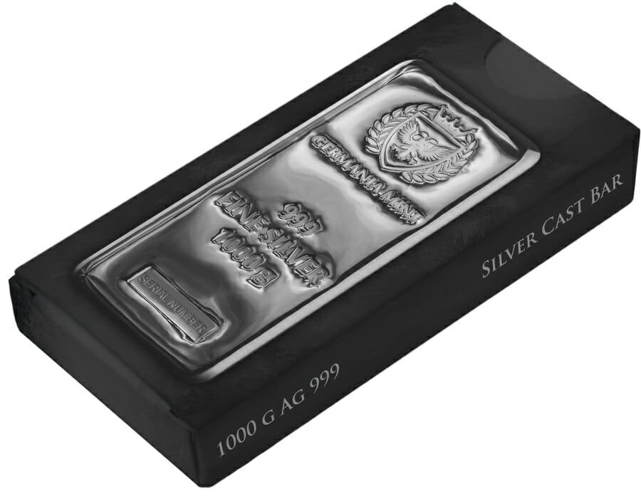 Germania Mint 1kg .999 Silver Cast Bullion Bar - 1 Kilo 3