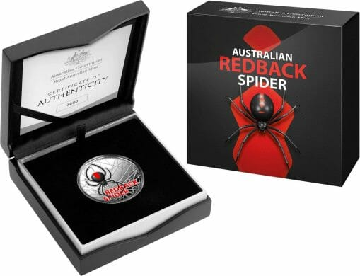 2021 Australia's Most Dangerous - Redback Spider 1oz .999 Silver Coloured Proof Coin 5
