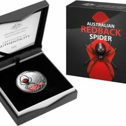 2021 Australia's Most Dangerous - Redback Spider 1oz .999 Silver Coloured Proof Coin 10