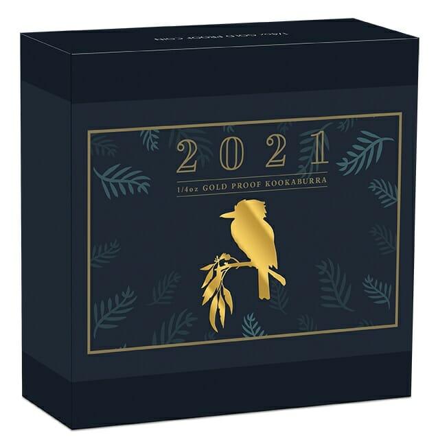 2021 Australian Kookaburra 1/4oz .9999 Gold Proof Coin 5