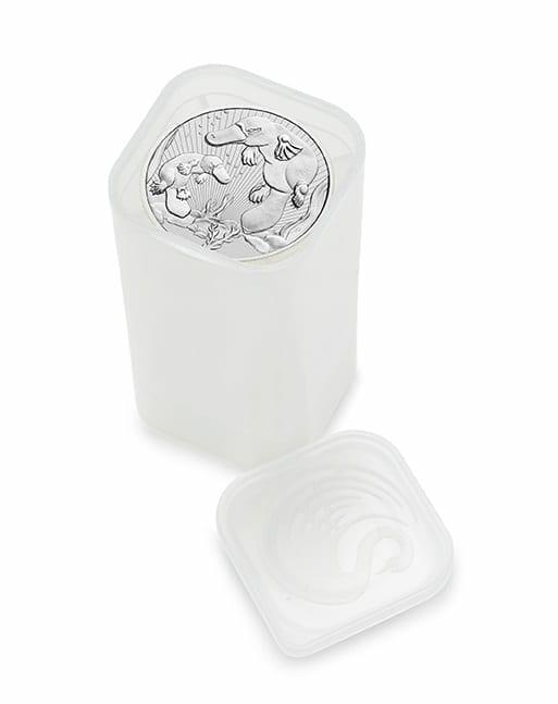 2021 Mother & Baby Platypus 2oz .9999 Silver Bullion Piedfort Coin 4