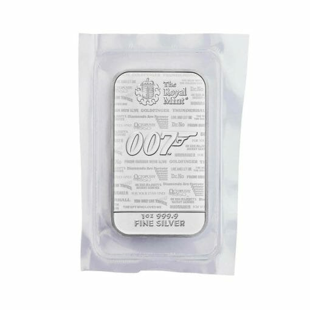 2020 007 James Bond - No Time To Die 1oz .9999 Silver Bullion Bar 3