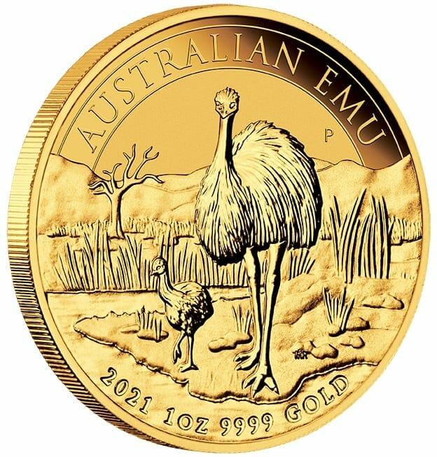 2021 Australian Emu 1oz .9999 Gold Bullion Coin 2