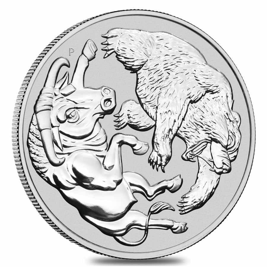 2020 Bull and Bear 1kg .9999 Silver Bullion Coin - 1 Kilo 2
