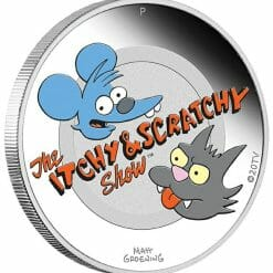 2021 The Simpsons - Itchy & Scratchy 1oz .9999 Silver Proof Coloured Coin 6