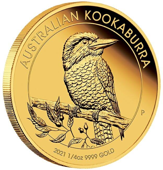 2021 Australian Kookaburra 1/4oz .9999 Gold Proof Coin 2