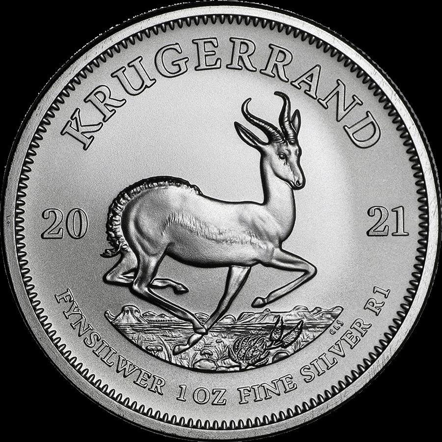 2021 Silver Krugerrand 1oz .999 Silver Bullion Coin 1
