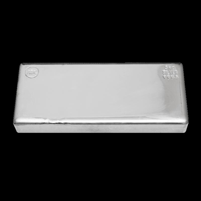 ABC 5kg .9995 Silver Cast Bullion Bar