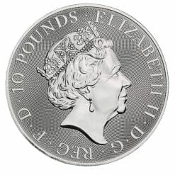 2021 The Queen's Beasts - The White Horse of Hanover 10oz .9999 Silver Bullion Coin 6