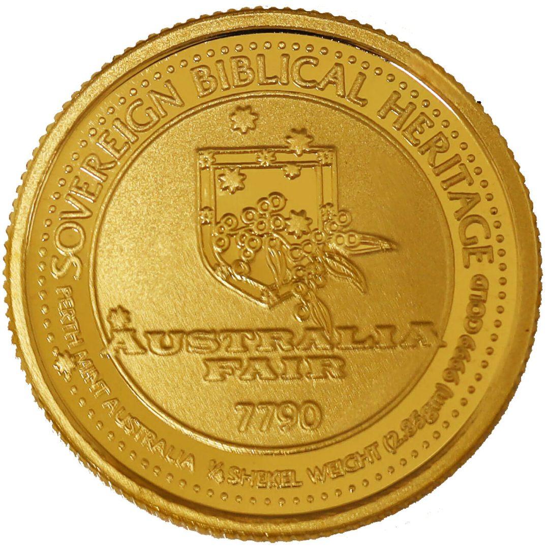 Inspirational Biblical Heroes 1/4 Shekel .9999 Gold Bullion Round 3