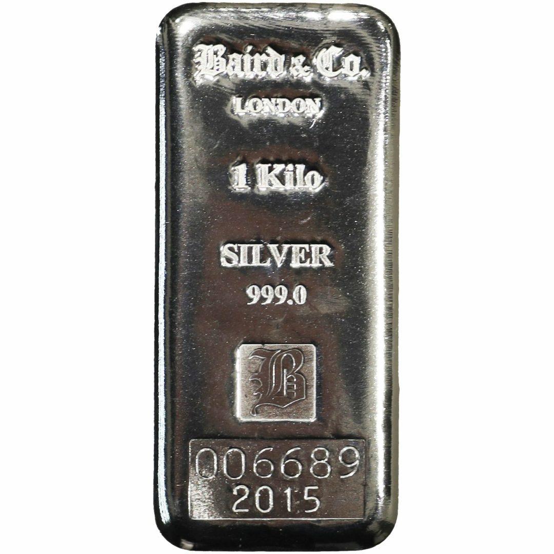 Baird & Co 1kg .999 Silver Cast Bullion Bar 1