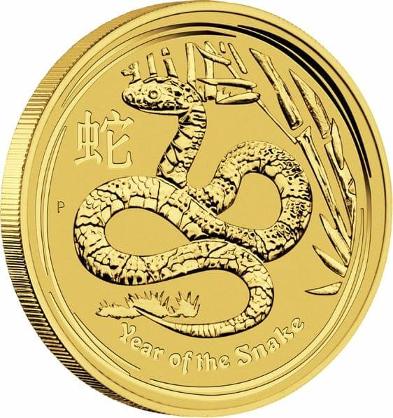 2013 Year of the Snake 1oz .9999 Gold Bullion Coin - Lunar Series 2 2
