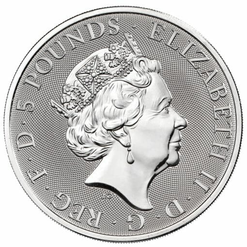 2021 The Queen's Beasts Completer 2oz .9999 Silver Bullion Coin 3