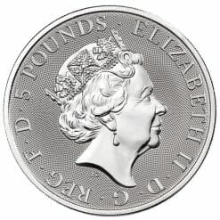 2021 The Queen's Beasts Completer 2oz .9999 Silver Bullion Coin 7