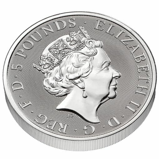 2021 The Queen's Beasts Completer 2oz .9999 Silver Bullion Coin 5