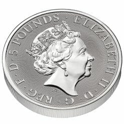 2021 The Queen's Beasts Completer 2oz .9999 Silver Bullion Coin 9