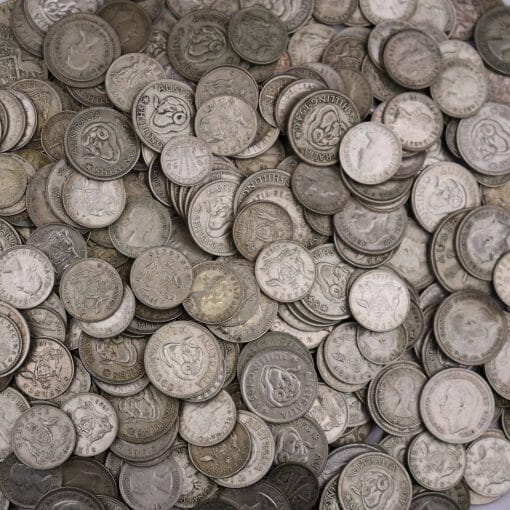 1kg Post 1946 Silver Coins - 50% Silver 1