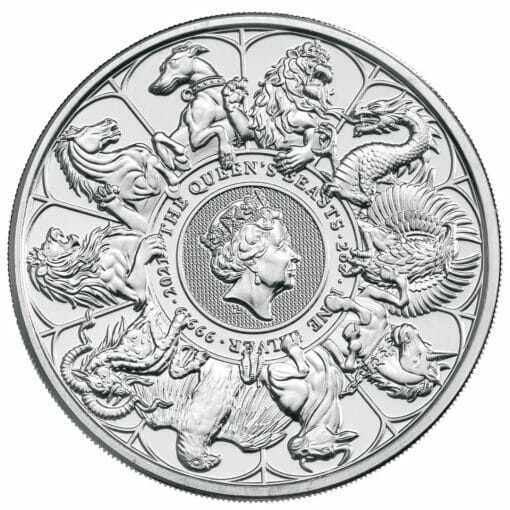 2021 The Queen's Beasts Completer 2oz .9999 Silver Bullion Coin 1