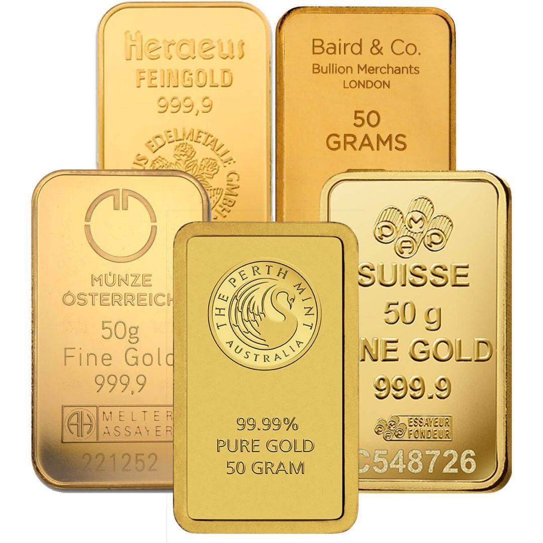 Low Premium 50g Gold Bullion 1