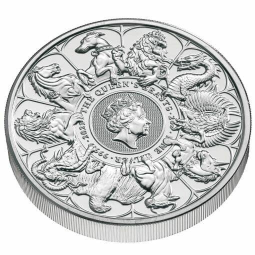 2021 The Queen's Beasts Completer 2oz .9999 Silver Bullion Coin 4