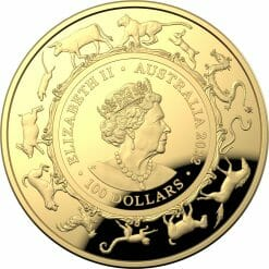 2022 $100 Lunar Year of the Tiger 1oz .9999 Gold Domed Proof Coin
