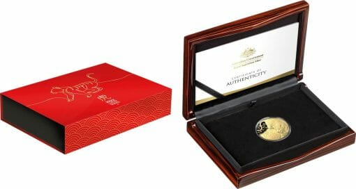 2022 $100 Lunar Year of the Tiger 1oz .9999 Gold Domed Proof Coin 1