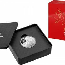 2022 $5 Lunar Year of the Tiger 1oz .999 Silver Domed Proof Coin