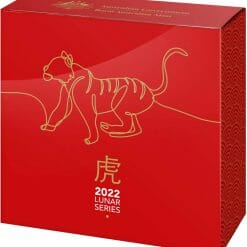 2022 $5 Lunar Year of the Tiger 1oz .999 Silver Domed Proof Coin 2