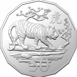 2022 50c Lunar Year of the Tiger Uncirculated Tetra-Decagon Coin - CuNi