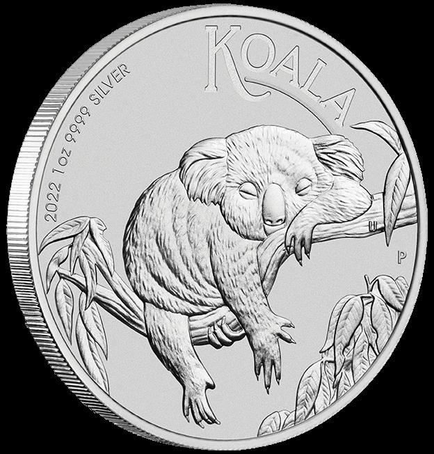 2022 Australian Koala 1oz .9999 Silver Bullion Coin Side On