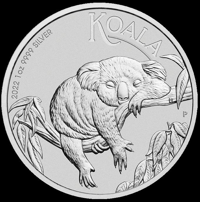 2022 Australian Koala 1oz .9999 Silver Bullion Coin Front