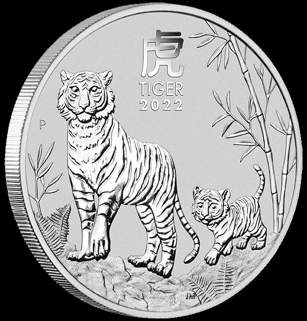 2022 Year of the Tiger 1/2oz .9999 Silver Bullion Coin – Lunar Series III