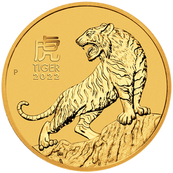 2022 Year of the Tiger 1/4oz .9999 Gold Bullion Coin – Lunar Series III