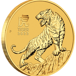 2022 Year of the Tiger 1/10oz .9999 Gold Bullion Coin – Lunar Series III