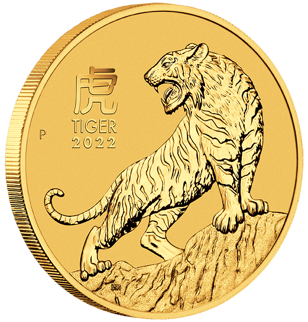 2022 Year of the Tiger 10oz .9999 Gold Bullion Coin – Lunar Series III