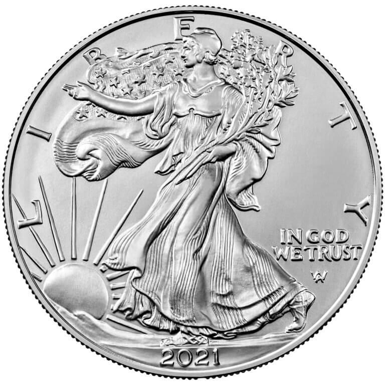 2021 American Silver Eagle 1oz .999 Silver Bullion Coin - Type 2 ASE