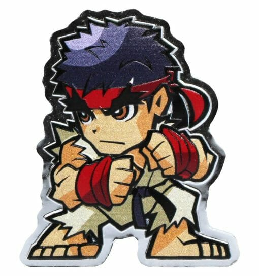 2021 Mini Fighters Ryu 1oz .999 Silver Proof Coloured Coin - Street Fighter