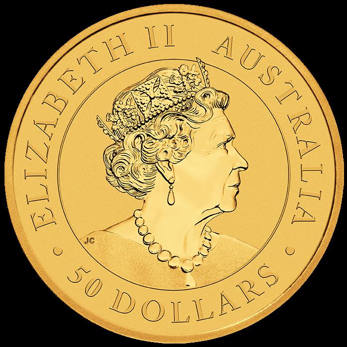 2022 Australian Kangaroo 1/2oz .9999 Gold Bullion Coin 1