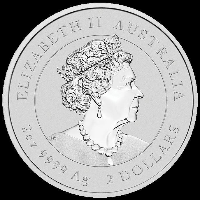 2022 Year of the Tiger 2oz .9999 Silver Bullion Coin – Lunar Series III 1