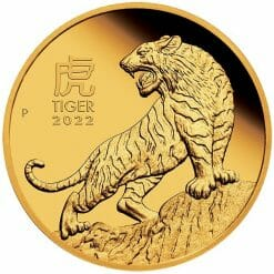 2022 Year of the Tiger 1oz .9999 Gold Proof Coin - Lunar Series III