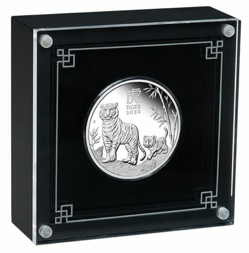 2022 Year of the Tiger 1oz .9999 Silver Proof Coin - Lunar Series III