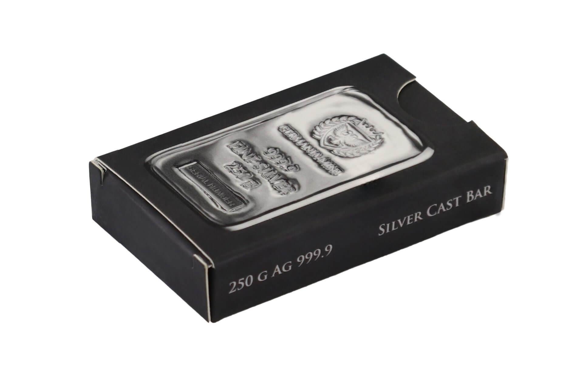 Germania Mint 250g .9999 Silver Cast Bullion Bar 3