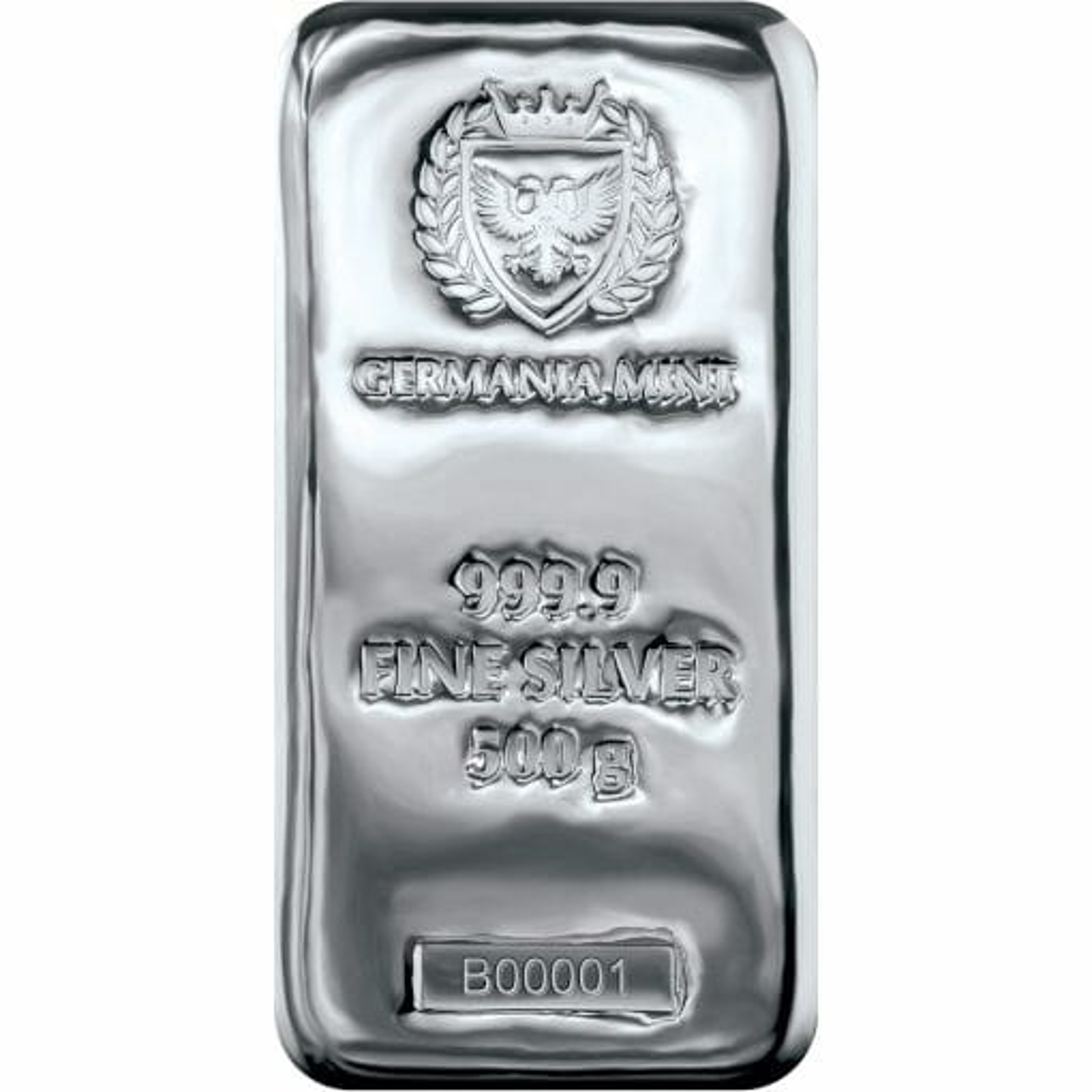 Germania Mint 500g .9999 Silver Cast Bullion Bar 1