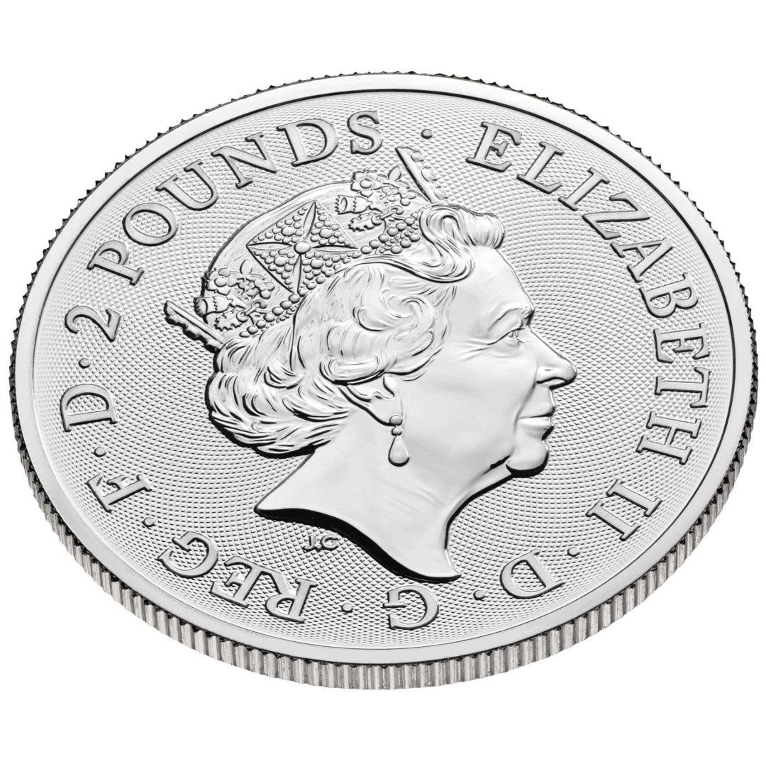 2022 Maid Marian 1oz .999 Silver Bullion Coin - Myths and Legends 1