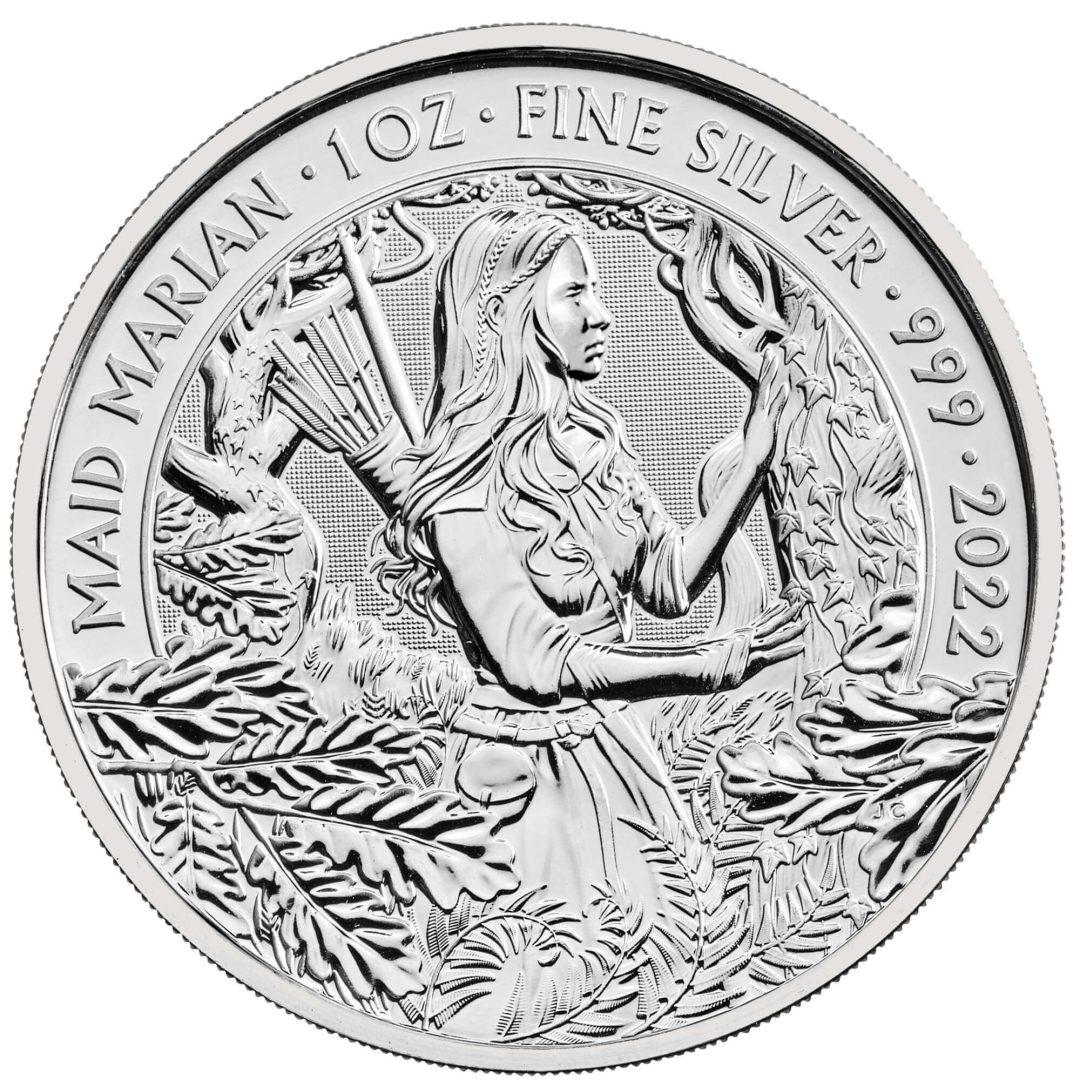 2022 Maid Marian 1oz .999 Silver Bullion Coin - Myths and Legends