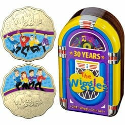 2021 30 Years of the Wiggles 30c Coloured Scalloped Two Coin Set - AlBr