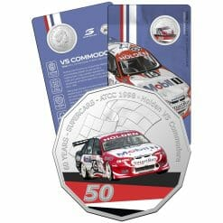 2020 50c 1998 Holden VS Commodore - 60 Years of Supercars Coloured Coin in Card