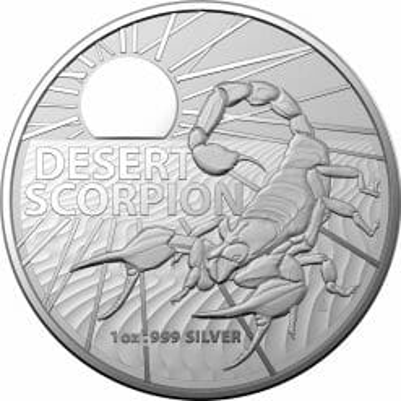 2022 Australia's Most Dangerous – Desert Scorpion 1oz .999 Silver Bullion Coin